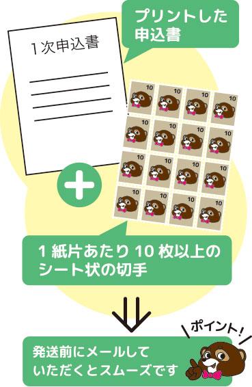 切手シートを送るイメージ画像